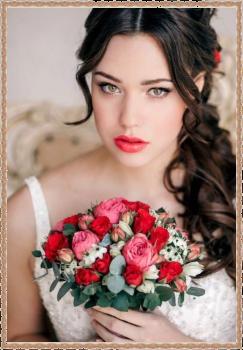 красная помада макияж на выпускной Москва