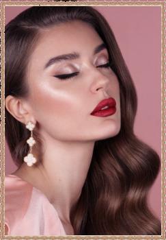макияж  Красная помада